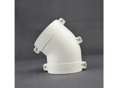 PVC外包配件45°弯
